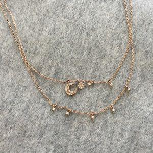 Adornmonde Lonnie Rose Gold Necklace Set
